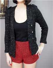 Double-breasted Epaulet Knitted Cardigan
